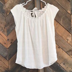 White LC Lauren Conrad top NWOT